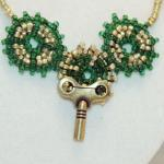 Steampunk Necklace Of Bead..